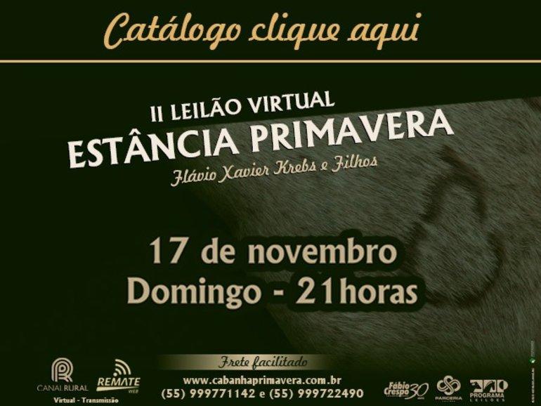 II LEILÃO ESTÂNCIA PRIMAVERA - CATÁLOGO