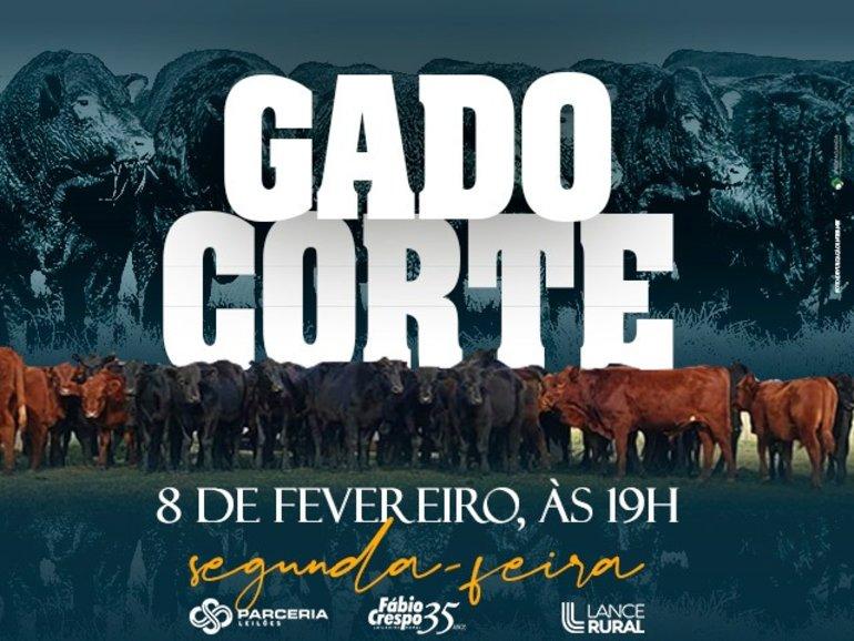LEILÃO GADO DE CORTE - INSCRIÇÕES ABERTAS